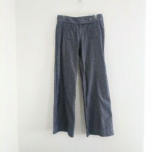 Anthropologie Elevenses cotton wide leg pants